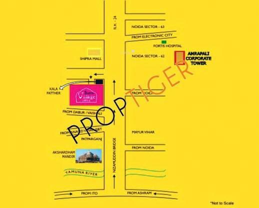Amrapali Village Location Plan
