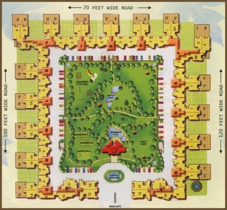 Jaipuria Sunrise Greens Apartment Site Plan