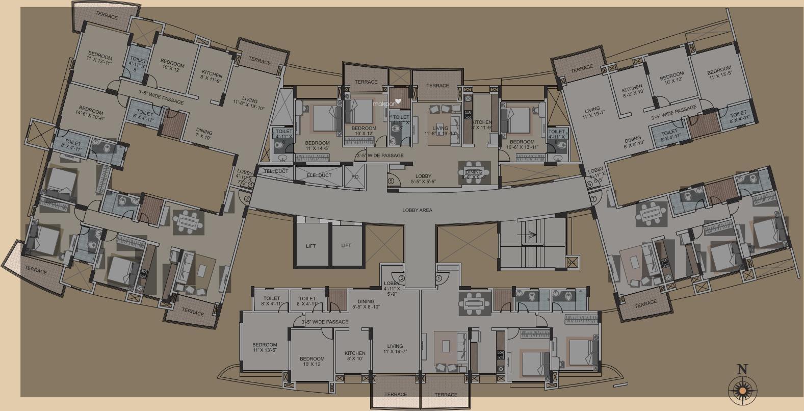 17 Harmonious Floor Plan Building New in