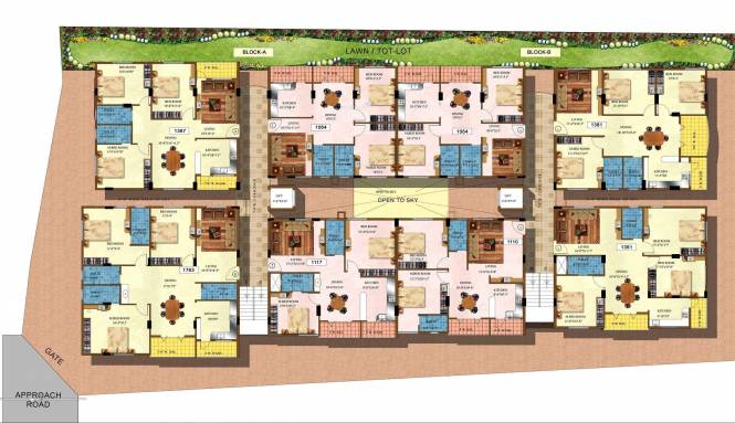 DSR Naveen Lakeside Cluster Plan