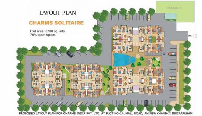 Charms Solitaire Layout Plan