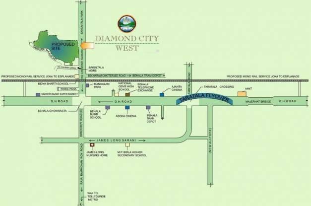 Diamond City West Location Plan