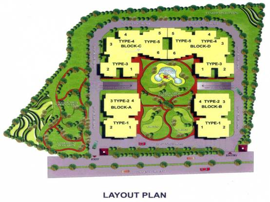 JKG Amba G Residency Layout Plan