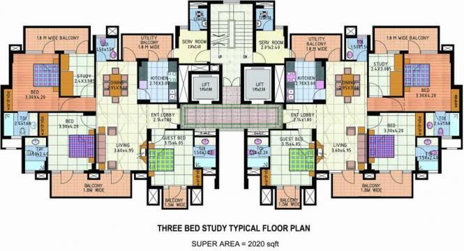 JMD Gardens Cluster Plan