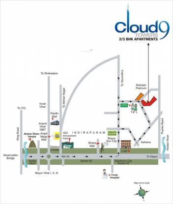 Rishabh Cloud9 Towers Location Plan