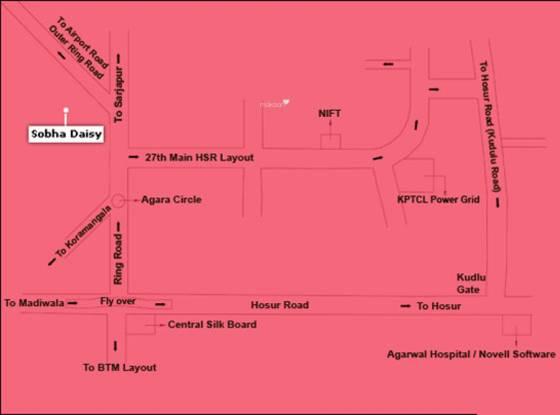 Sobha Daisy Location Plan