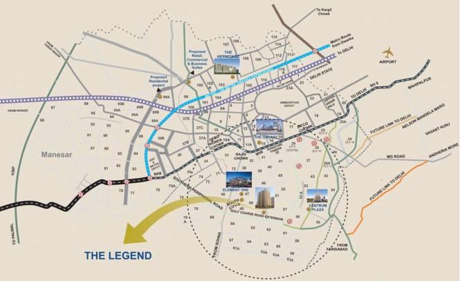Satya The Legend Location Plan