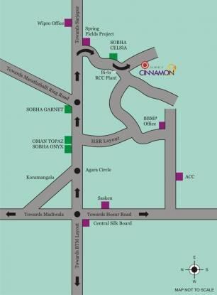 Sobha Cinnamon Location Plan
