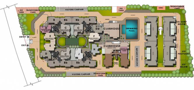 Sobha Cinnamon Site Plan