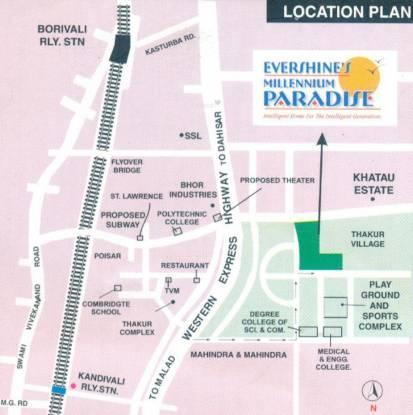Evershine Millennium Paradise Location Plan