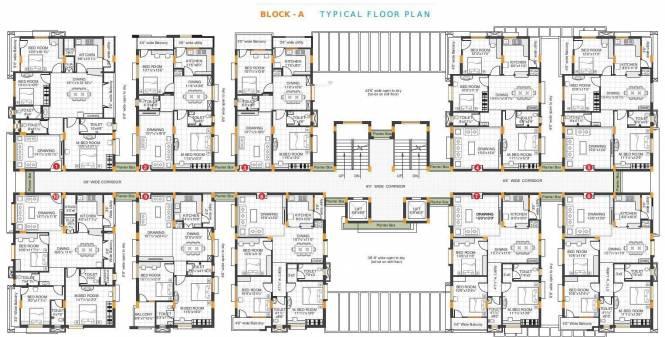 RSRPPL 4 Square Elegant Cluster Plan