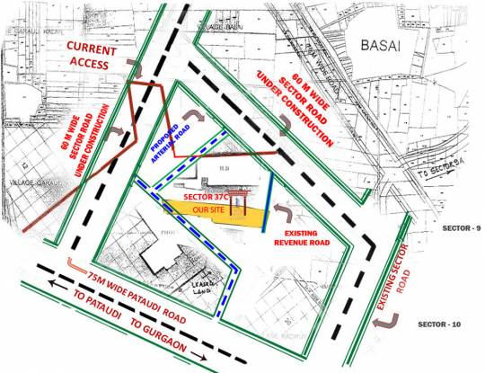 Piedmont Taksila Heights Location Plan