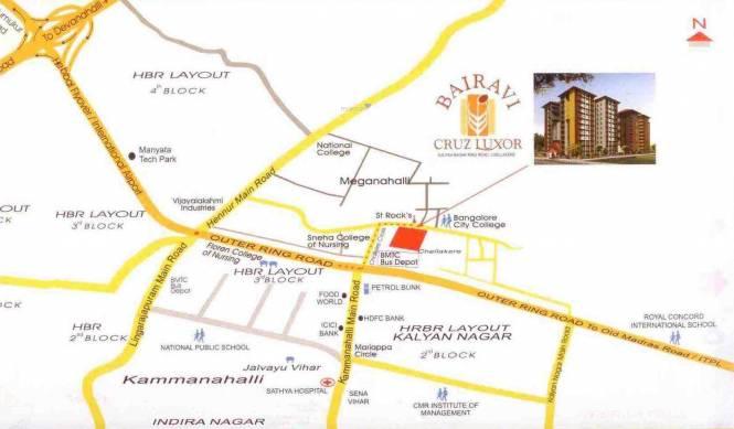 Bairavi Cruz Luxor Location Plan