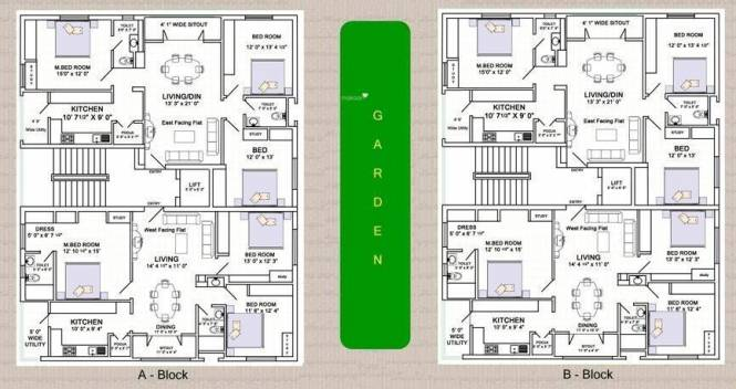 Subishi Silver Oaks Apartment Cluster Plan