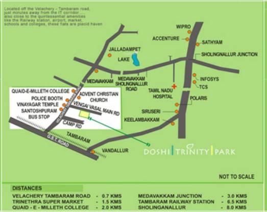 Doshi Trinity Park Location Plan
