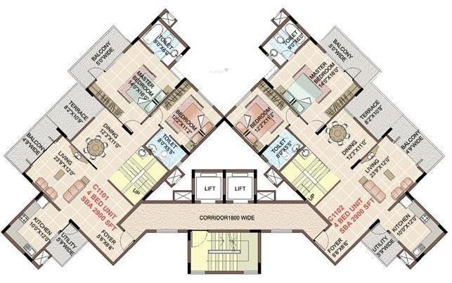 Shriram Symphonye Cluster Plan
