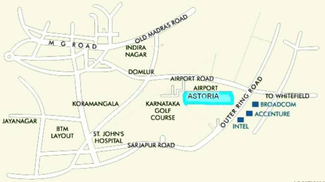 Vaswani Astoria Location Plan