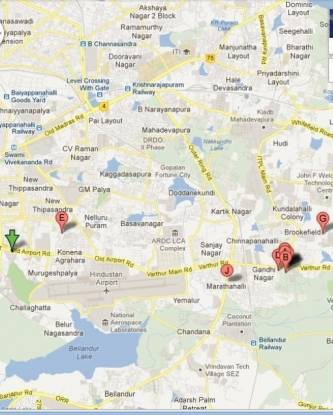 Vishnu Parimala Residency Location Plan