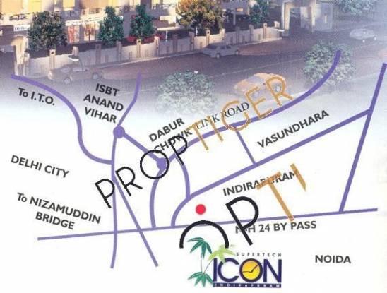 Supertech Icon Location Plan