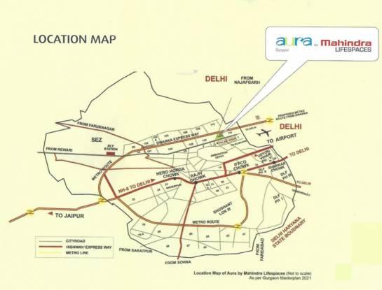Mahindra Aura Location Plan