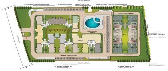 Sobha Saffron Site Plan