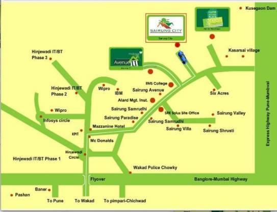 Sairung City Location Plan