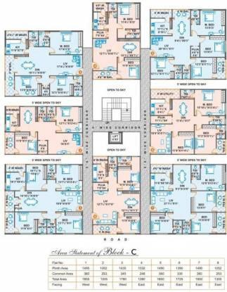 BR Hemadurga Towers Cluster Plan