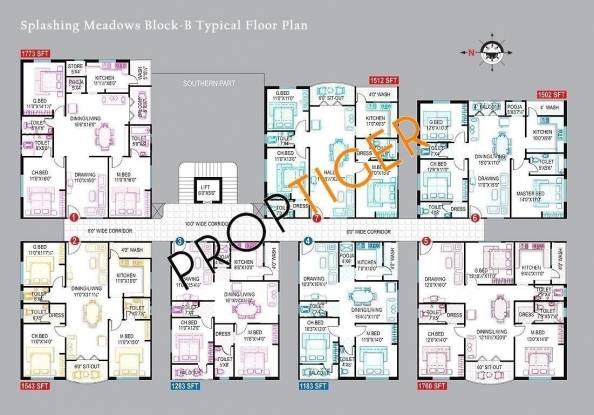Royal Splashing Meadows Cluster Plan