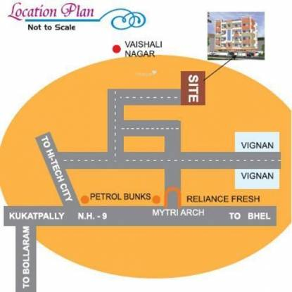 SumaShaila Sri Sai Abode Location Plan