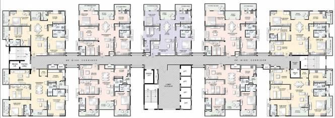 Manjeera Trinity Sky Villas Cluster Plan