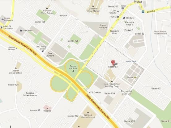 Purvanchal Silver City Location Plan