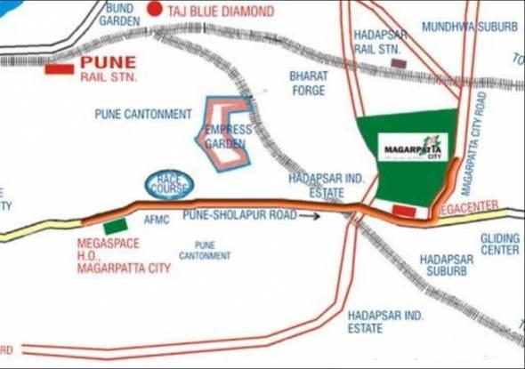 Magarpatta Acacia Gardens Location Plan