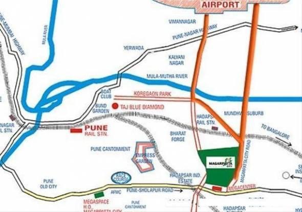 Magarpatta Mulberry Gardens Location Plan