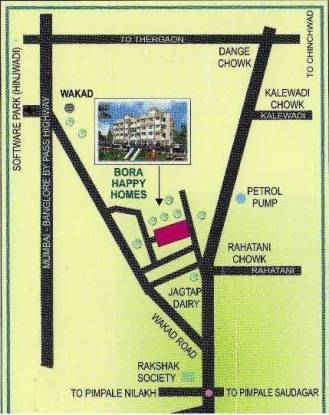 Bora Happy Homes Location Plan