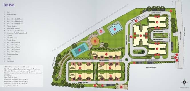 Sobha Althea Site Plan