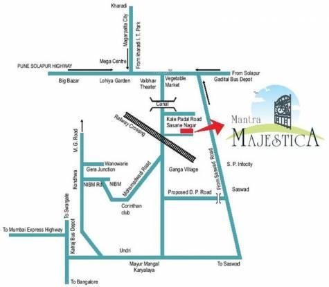 Mantra Majestica Location Plan