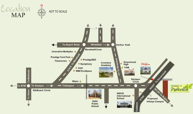 Peninsula Parkville Location Plan