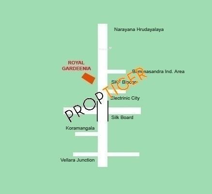 RS Royal Gardeenia Location Plan