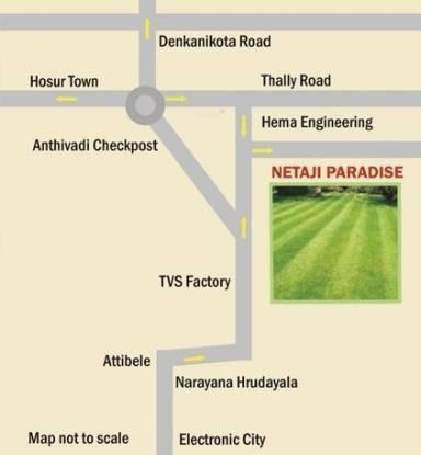 Vaibhava Netaji Paradise Location Plan