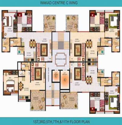 Shree Wakad Centre Cluster Plan
