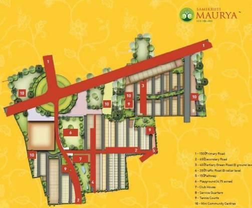 Samskruti Maurya Site Plan