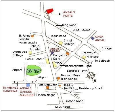 Ansal Krsna II Location Plan