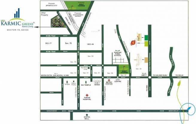 Sikka Karmic Greens Location Plan