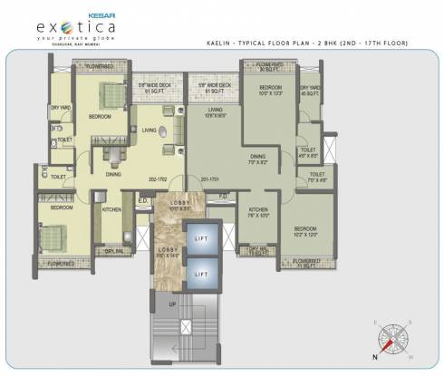 Kesar Exotica Phase I Basement Plus Ground Plus Upper 14 Floors Cluster Plan