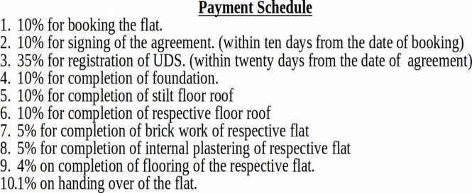 Rajni Kannan Gardens Payment Plan