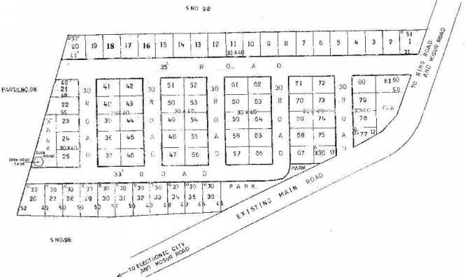 Abm Sapthagiri Nagar Site Plan