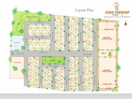 Vensha Asian Township Layout Plan