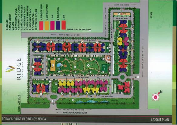 Today Homes Ridge Residency Layout Plan