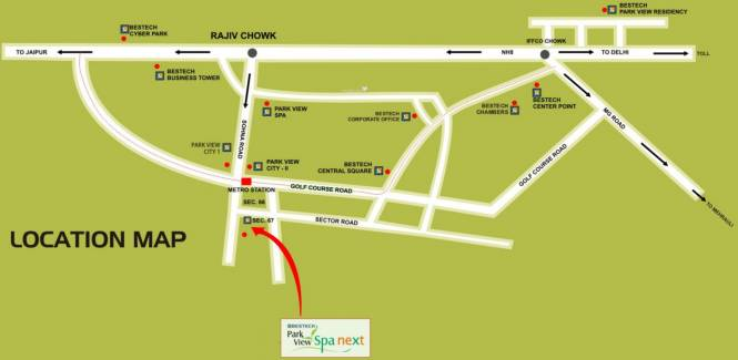 Bestech Park View Spa Next Location Plan