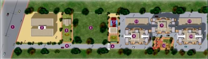 Arun Orchid Towers Layout Plan
